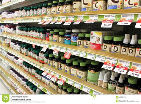 Suplemen On vitamins and supplements editorial stock photo image
