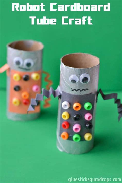 How To Make A Simple Robot With Paper - easy robot toilet paper roll craft