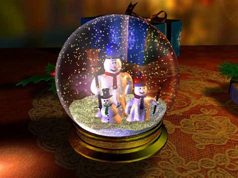 Schneekugel Mit Bild by Schneekugel 3d Bildschirmschoner Weihnachten