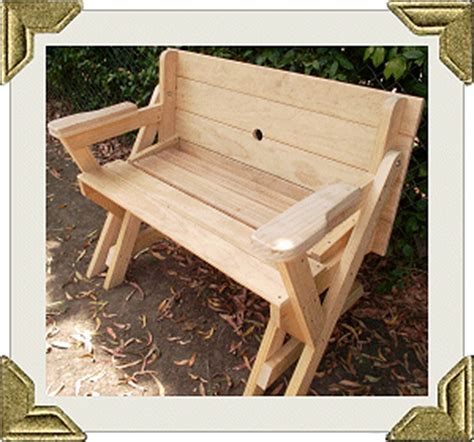 folding picnic table  bench seat  plans