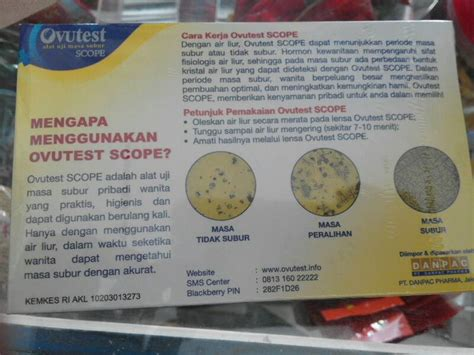 Ovutest Scope Akurat Original Tes Kesuburan jual alat tes kesuburan ovutest scope anggajaya