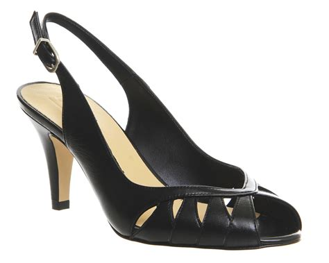 Peep Toe Slingbacks by Office Willoughby Peep Toe Slingback Heels In Black Lyst