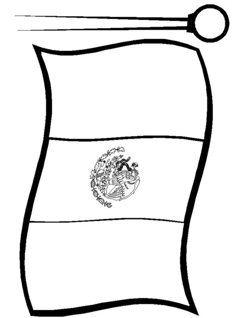 mexico flag coloring page mexico flag free coloring pages