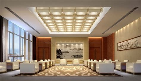 simple european style sales office reception room interior ceiling wall lighting reception room download 3d house