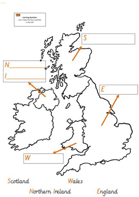 map uk ks1 label a uk map by mandem2014 uk teaching resources tes
