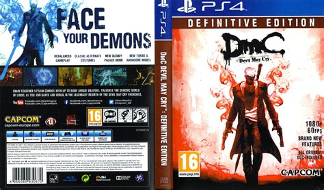 Ps4 May Cry Definitive Edition may cry definitive edition ps4 dvd cover label 2015 pal