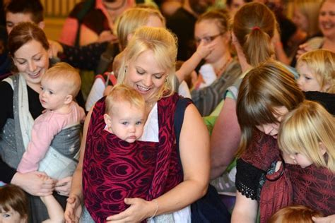 World Record For With The Most Births Parents Miss Out On Setting New World Record For Most Babies Carried In Slings