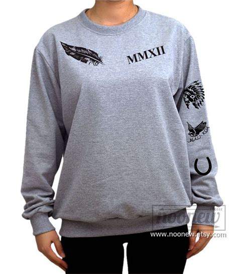 calum tattoos calum sweatshirt sweater crew neck shirt