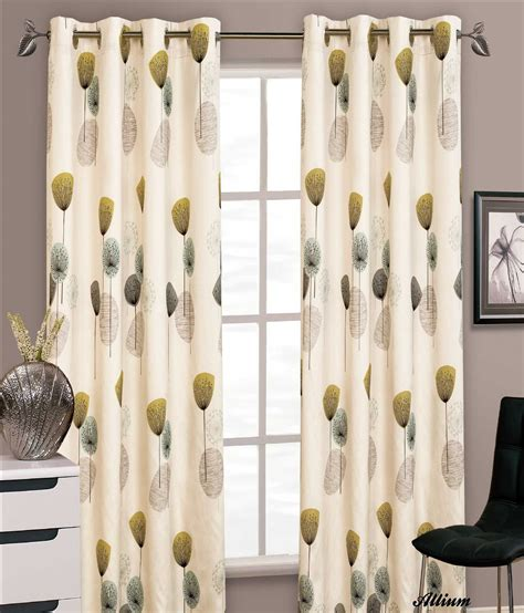 lime green and cream curtains stylish floral ring top eyelet lined curtains faux silk
