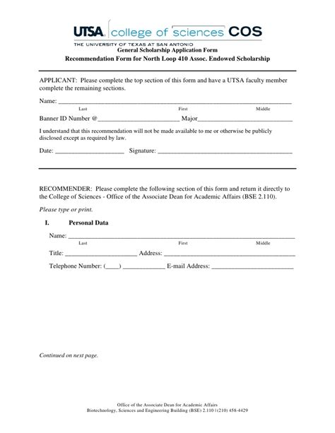 letter of recommendation for scholarship scholarship application form 1416
