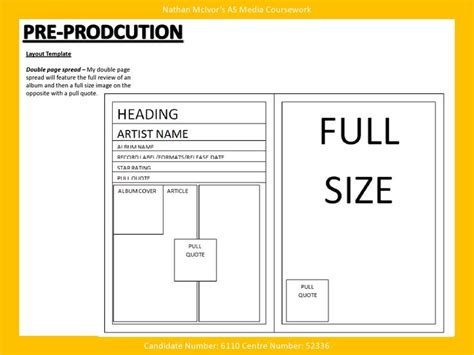 pre production templates media magazine pre production layout template