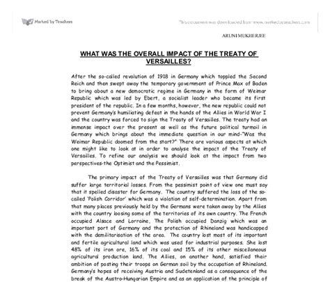 Treaty Of Versailles Essay by The Treaty Of Versailles Effect On Germany Essay Autravanastenerifees X Fc2