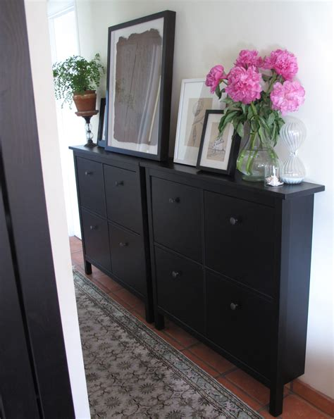 Slim Entryway Storage | styling a small space or office by re purposing an ikea