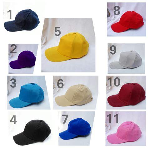 Topi Baseball Basebal Polos Dewasa Dan Anak Anak jual topi bayi anak baseball hat polos basebal polos warna