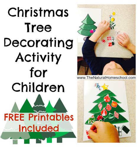 free printable christmas tree decorating activity money