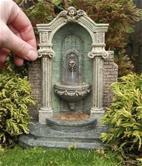 fairy garden miniature fieldstone fountain mini for gardens