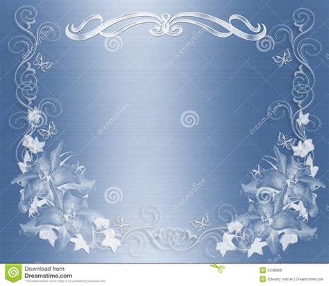 wedding invitation blue satin floral stock illustration