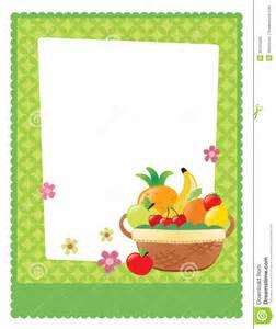 fruit basket flyer template royalty free stock image image 30741006