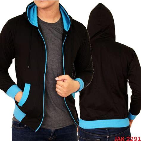 Hoodie Keren jaket pria hoodie keren fleece fleece hitam biru jak