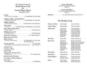 wedding ceremony program wording sles christian wedding programs wording exles search wedding program