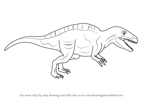 doodle dinosaur draw ruptor learn how to draw an acrocanthosaurus dinosaurs step by