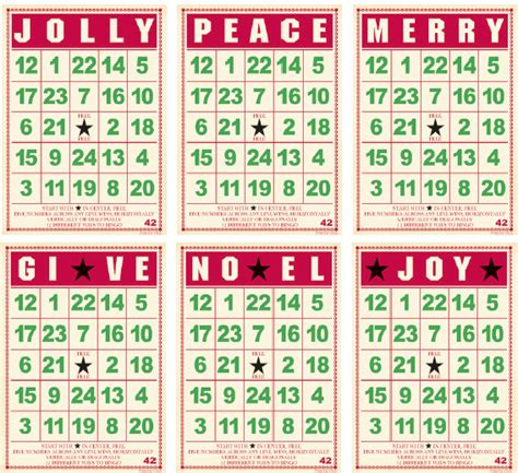 free printable christmas bingo cards with numbers jenni bowlin studio mini bingo cards christmas