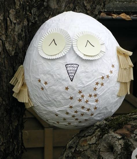 How To Make A Paper Mache Owl - paper mache owl diy images