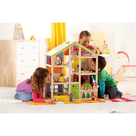kids doll houses hape all seasons dolls house