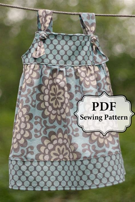 girls knot dress sewing pattern and a line top shirt 223 best easy little girl dress patterns images on
