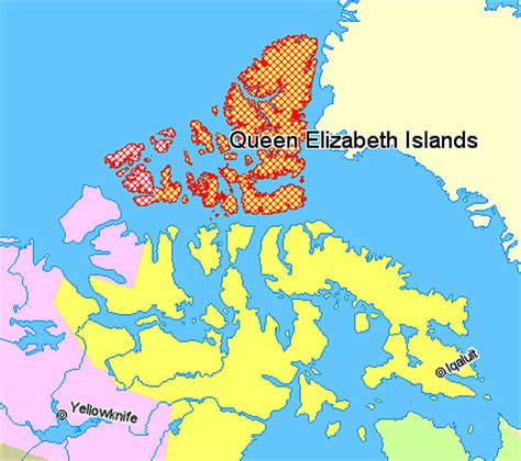 map of canada with islands file map indicating the elizabeth or parry islands