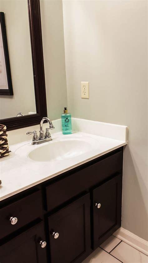 restaining bathroom vanity transforming bathroom vanity with gel stain java gel