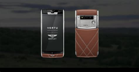 vertu bentley vertu for bentley a luxury phone that feels like a luxury