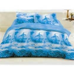 parure housse de couette dauphins bleu lagon achat