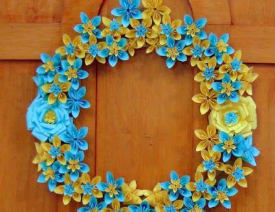 Origami Paper Thickness - origami paper flowers wreath crazzy craft