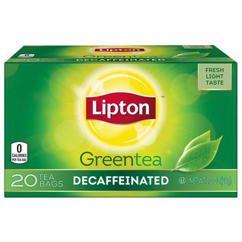 amazon tea amazon com lipton bags green tea bags decaffeinated 20 ct pack of 6 lipton green tea