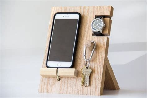 diy phone stand for desk wooden phone stand holder for iphones and phones watches