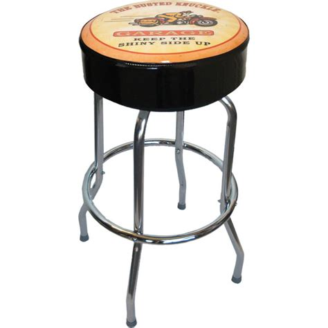 Motorcycle Seat Garage Stools by Garage Counter Swivel Barstool With Motorcycle Top