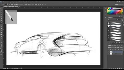 how to make doodle in photoshop drawing photoshop car sketch