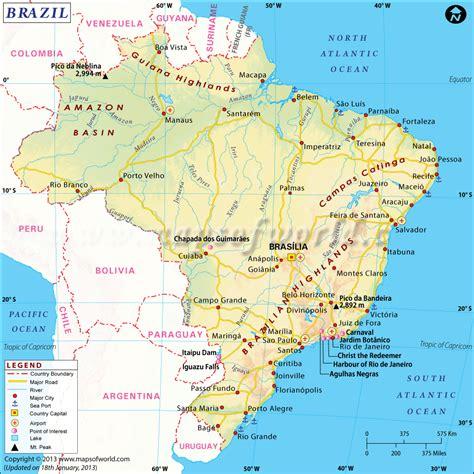 map of brasil brazil map map of brazil