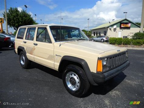 beige jeep cherokee 1989 sand beige jeep cherokee 28528095 photo 3