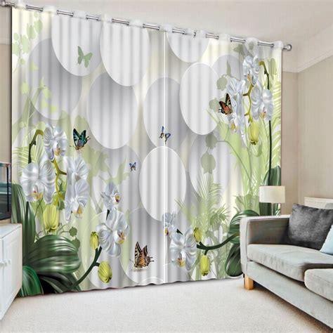 paint curtains modern 3d flower blackout curtains paint photo luxury