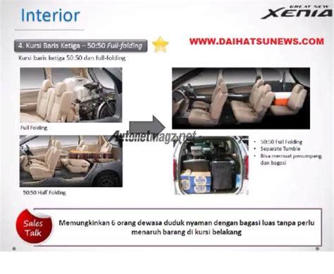Kursi Mobil Xenia update daihatsu great new xenia sudah punya koneksi hdmi seperti terios dan pelipatan jok baru