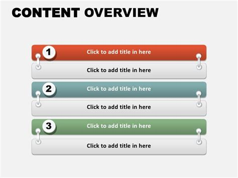 content overview free powerpoint charts