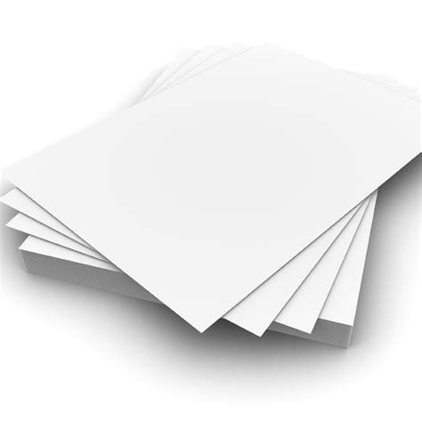 25 sheets a4 300gsm white card premium thick printing