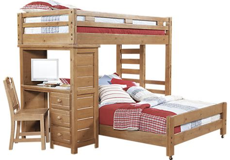 creekside taffy 5 pc student loft bed w desk