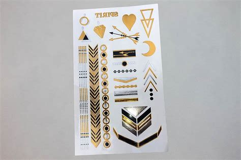 foil tattoos foil temporary tattoos printing vancouver canada custom