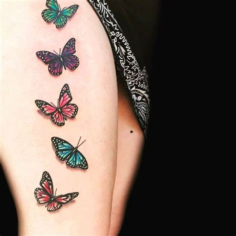 small thigh tattoo ideas butterfly on thigh www pixshark images