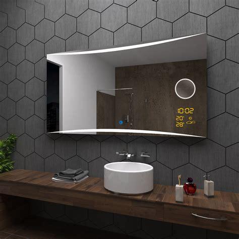 spiegelle led badezimmerspiegel mit led beleuchtung ocaccept