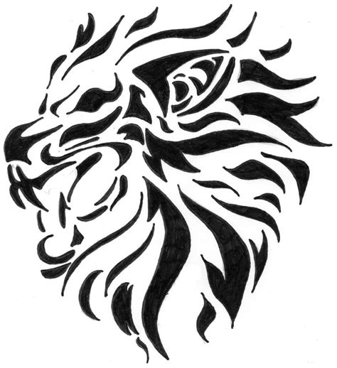 tribal lion head tattoos tribal pictures to pin on pinsdaddy