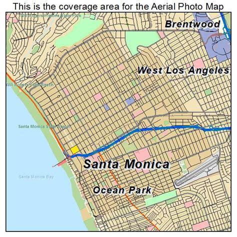 aerial photography map of santa ca california